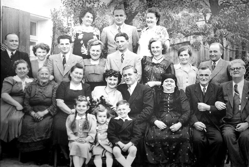 Kupfer und Sohn Familie